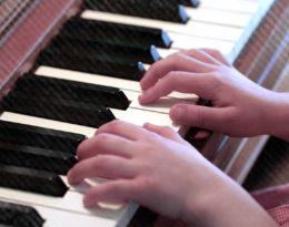 Piano Hands Practicing