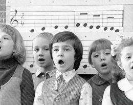 Vintage Photo of Children Singing